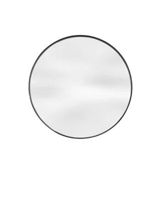 miroir rond contour metal noir 70x70cm