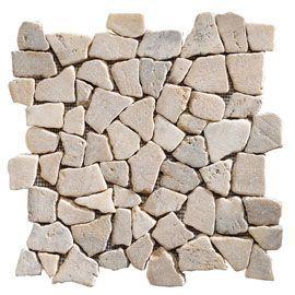 mosaique galets plats gris 32 x 32 swabina marbre