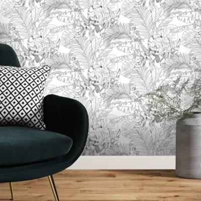 papier peint vinyle texture sur intisse goodhome oophoric en noir et blanc