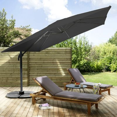 parasol deporte blooma jaya noir o300 cm