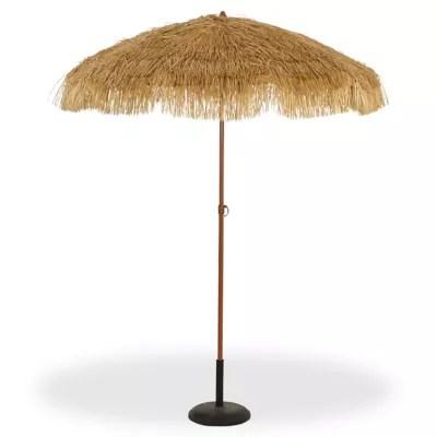 parasol tendances et creations imitation raphia o200 cm
