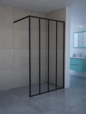 paroi de douche walk in zenne 120 cm