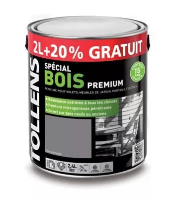 peinture bois exterieure gris anthracite satin 2l 20