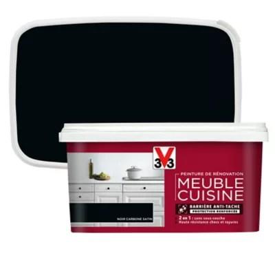 peinture de renovation meuble cuisine v33 noir carbone satin 2l