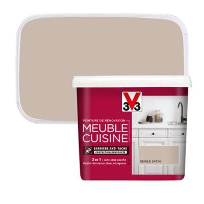 peinture de renovation meuble cuisine v33 seigle satin 750ml