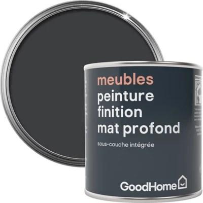 peinture de renovation meubles goodhome noir liberty mat profond 125ml