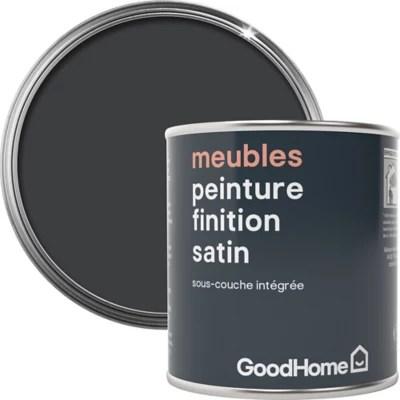peinture de renovation meubles goodhome noir liberty satin 125ml