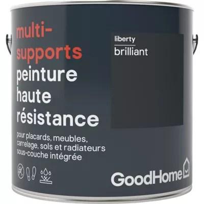Peinture Haute Resistance Multi Supports Goodhome Noir Liberty Brillant 2l Castorama