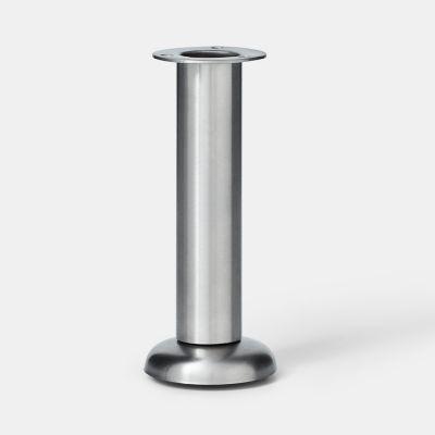 pied de meuble de cuisine goodhome cisely h 15 16 5 cm x o 6 cm argent 4 pieces