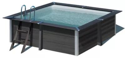 piscine composite gris gre 3 26 x 3 26 x h 0 96 m