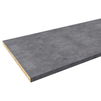 plan de travail aspect beton 180 x 60 cm ep 28 mm vendu a la piece