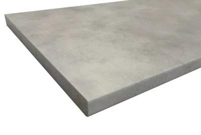 plan de travail stratifie aspect ciment coloris gris cooperfield 280 x 62 cm ep 38 mm vendu a la piece