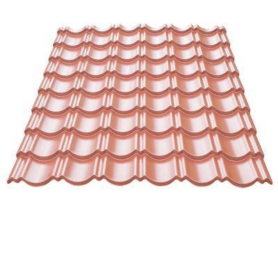 Plaque Metal Imitation Tuile Bacacier Home Steel Rouge 115 X 87 Cm Vendue A La Plaque Castorama
