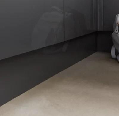 plinthe de cuisine goodhome stevia et garcinia gris h 15 cm x l 2 4 m x ep 16 mm