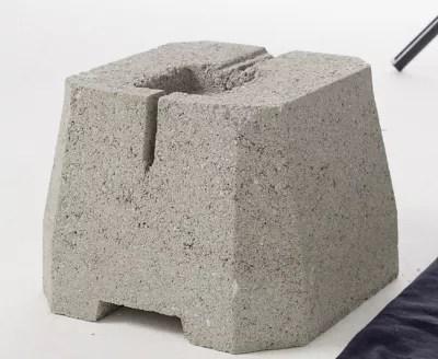 plot beton a enterrer pour portique