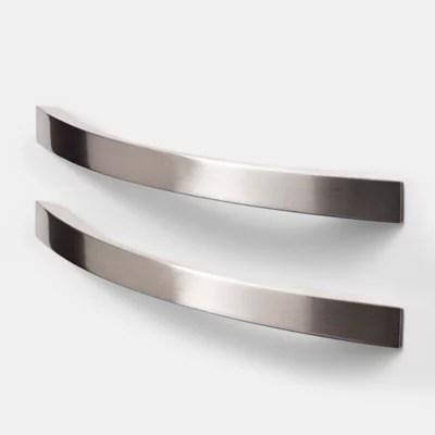 poignee de meuble de cuisine goodhome sabaku argent l 26 cm 2 pieces