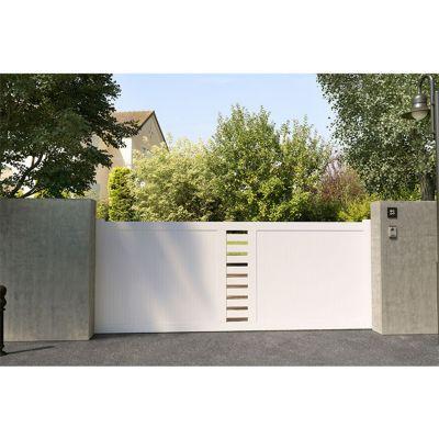 portail coulissant pvc cassis blanc 350 x h 150 cm