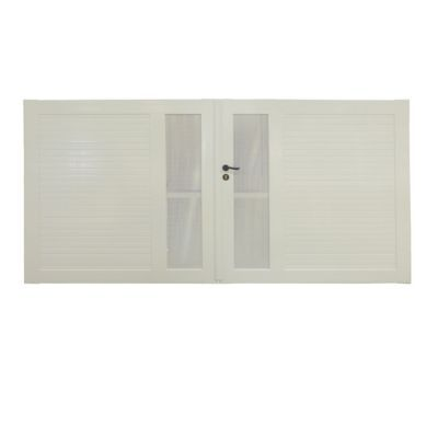 portail pvc ciotat blanc 300 x h 150 cm