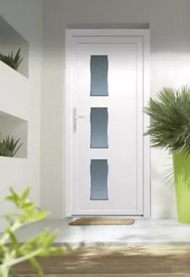 porte d entree pvc denali blanc 90 x h 215 cm poussant droit