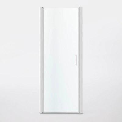 porte de douche pivotante ouverture totale goodhome beloya transparente 80 cm