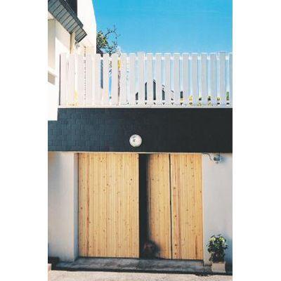 porte de garage 4 vantaux sapin l 240 x h 200 cm en kit