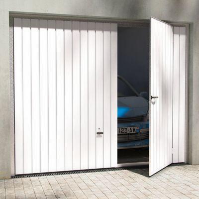 Porte De Garage Basculante Avila Blanche L 240 X H 200 Cm Pre Montee Castorama