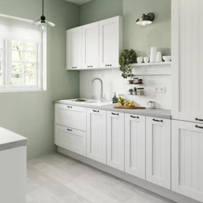 porte de meuble de cuisine goodhome alpinia blanc l 14 7 cm x h 89 5 cm