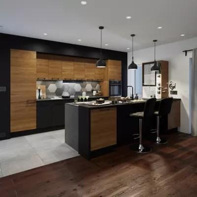 porte de meuble de cuisine goodhome pasilla noir l 14 7 cm x h 71 5 cm