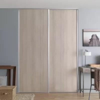 porte de placard coulissante acacia creme form valla 62 2 x 245 6 cm
