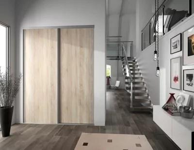porte de placard coulissante chene clair form valla 62 2 x 245 6 cm
