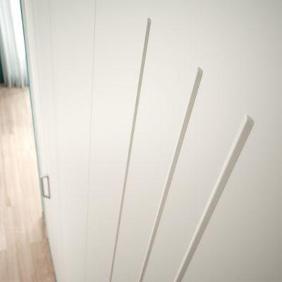 porte de placard pliante metal blanche kazed 77 5 x 205 cm