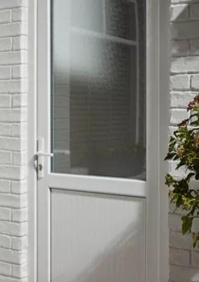 porte de service 1 2 vitree pvc 90 x h 205 cm poussant droit