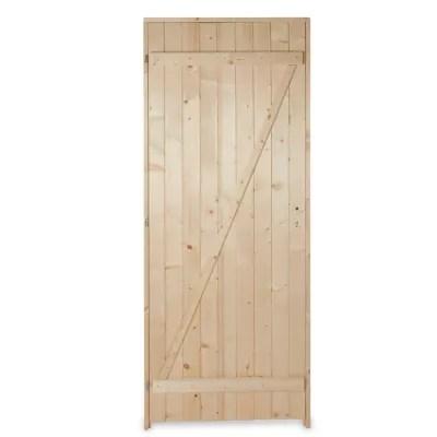 porte de service bois 80 x h 200 cm poussant droit