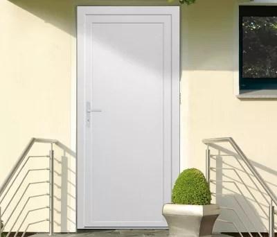 porte de service pleine pvc 90 x h 205 cm poussant droit