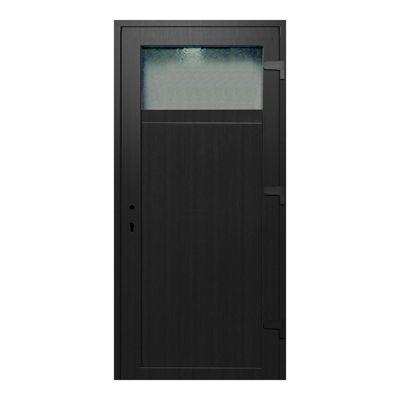 porte de service pvc gris anthracite 90 x h 205 cm poussant gauche