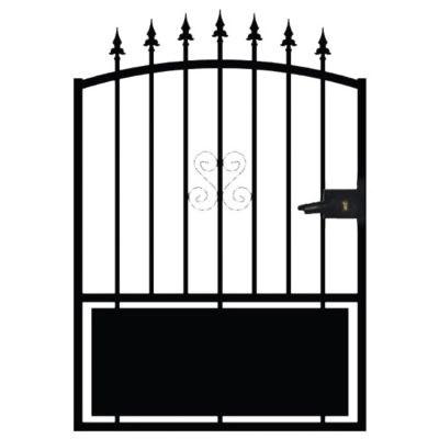 portillon fer braga noir 100 x h 120 cm