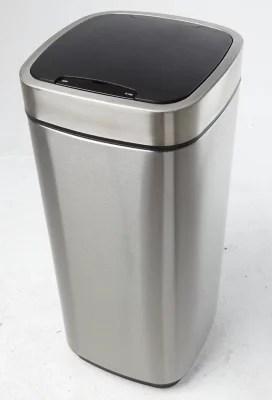Poubelle A Ouverture Automatique Coloris Gris 30 L Komodo Castorama