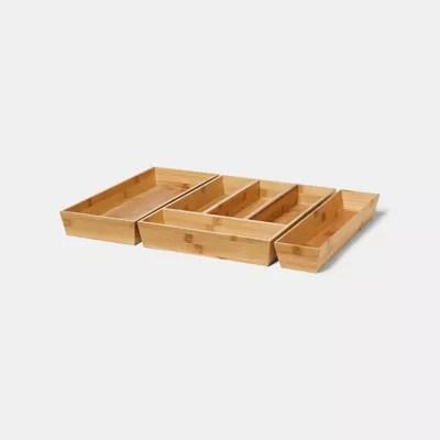 range couverts goodhome nitaki bambou 30 x 42 cm 4 compartiments