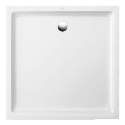 receveur a poser ceramique blanc villeroy boch collection design 80 x 80 cm