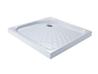 receveur a poser extra plat ceramique blanche collection 80 x 80 cm