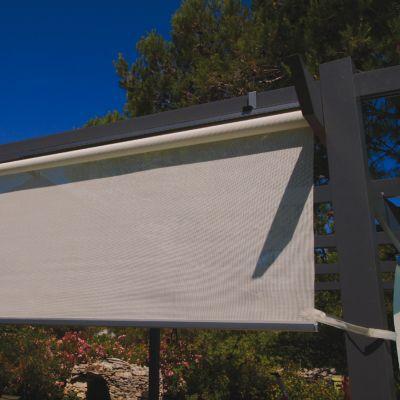 rideau brise soleil gris l 120 cm