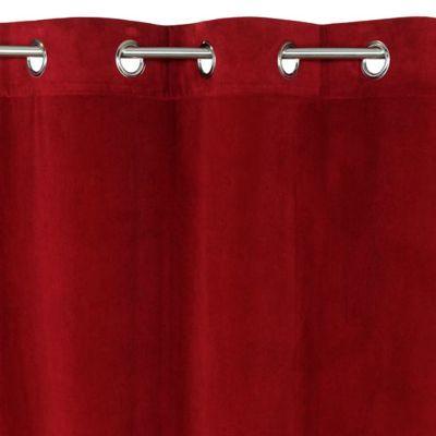 rideau colours beaulieu aspect velours rouge 140 x 240 cm