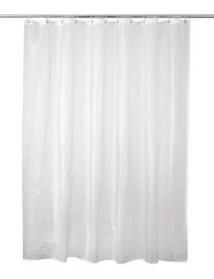 rideau de douche plastique peva transparent decor gaufre 180 x 200 cm lacha