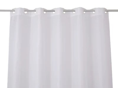 rideau de douche tissu blanc uni 180 x 200 cm trigno