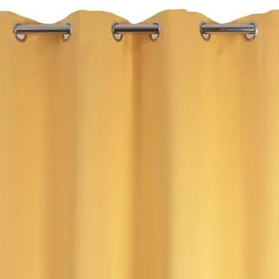 rideau occultant ves jaune 140 x 240 cm