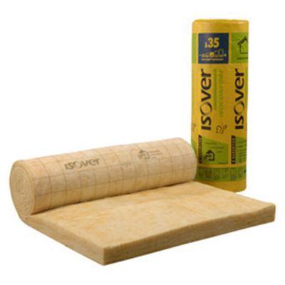 rouleau laine de verre isover isoconfort 35 kraft 1 2 x 3 m ep 200 mm vendu au rouleau