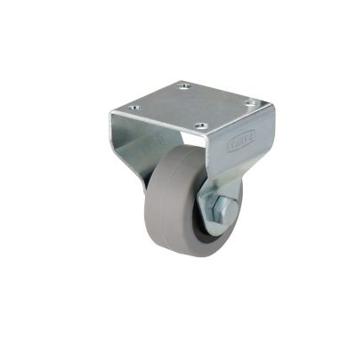 roulette fixe a platine fixe o40 mm charge max 20 kg