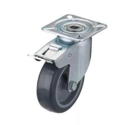 roulette pivotante a platine pivotante o75 mm charge max 60 kg