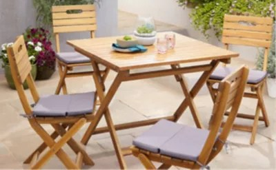 salon de jardin denia table 4 chaises