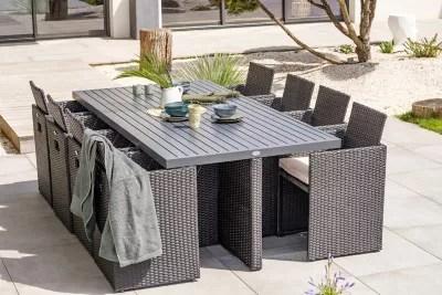 salon de jardin pvc 8 alu n table 8 fauteuils dcb garden
